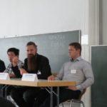 Bild mit Michael Glaß (2. v.r.) beim Munich Workshop on Design Technology Coupling (DTC) zusammen mit anderen Teilnehmern