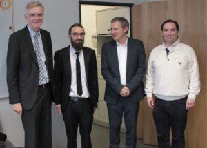 Bild von Andreas Weichslgartner mit Andreas Herkersdorf, Jürgen Teich und Rolf Wanka