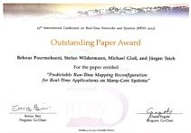 "Towards entry ""06.10.2017 Outstanding Paper Award and Best Presentation Award, RTNS2017, Grenoble, France"""